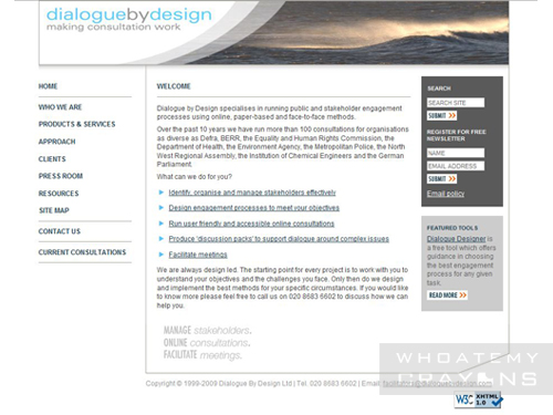 Dialogue by Design website