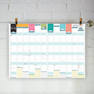 2017 Wall Planner A2 Personalised