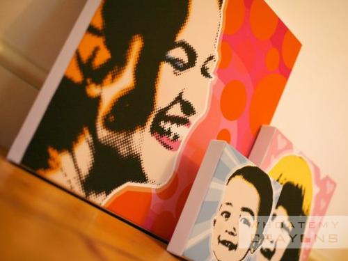 Popart canvas commission