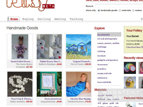 Folksy homepage – look who has been featured!