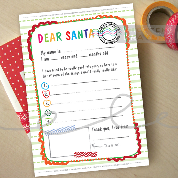 Dear Santa Letter – Free Download